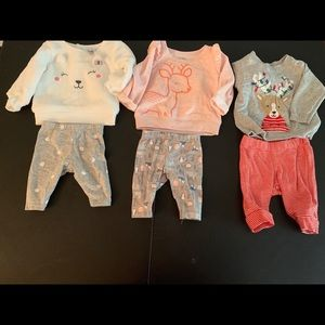 Worn once! Sweater and pants(size: newborn)